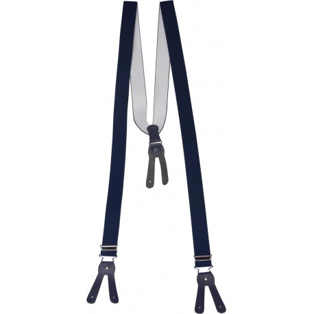 Brede donkerblauwe bretels voor knoppen