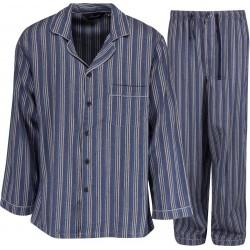 Ambassador flanellen pyjama's - Blauw / Grijs