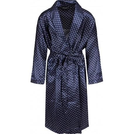 Ambassador satijnen badjas - Blauw