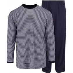 Ambassador jersey pyjama - Blauw-gestreepte