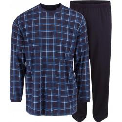 Ambassador jersey pyjama - Blauw geruite
