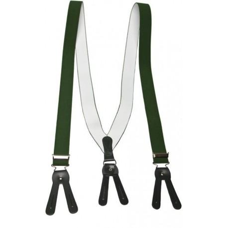 Brede groene bretel voor knoppen