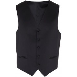 Zwarte jurk vest