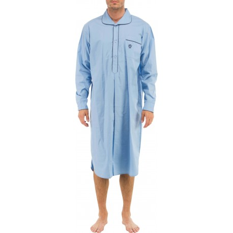 Lichtblauw nachthemd
