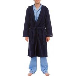 Donkerblauw hooded badjas