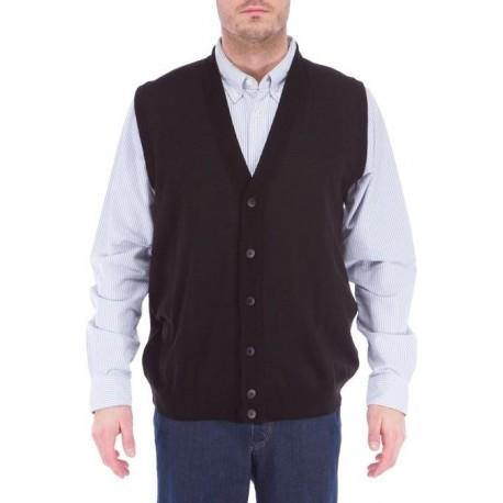 Zwarte Trui Mannen.Klassieke Zwarte Mannen Knop Trui Vest Uit Elkjaer