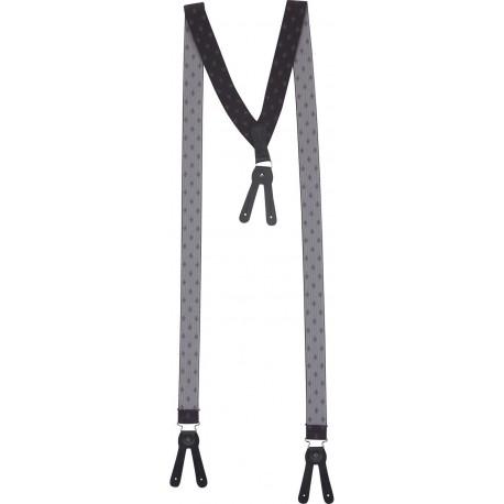 Brede donkergrijs bretels voor knoppen