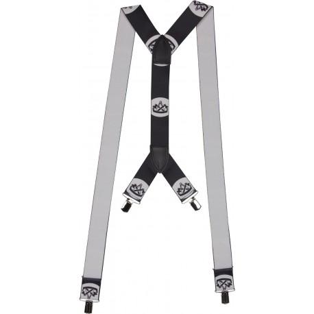 Extra brede bretels met timmerman motief