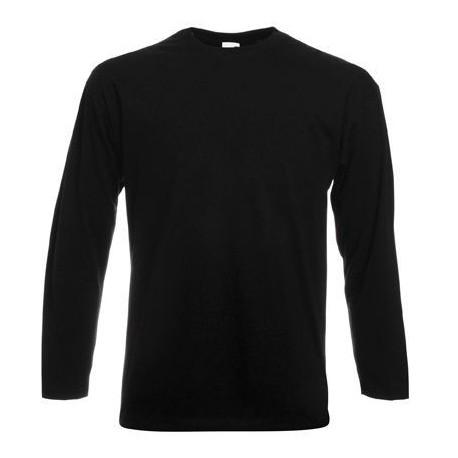 Zwart lange mouw t-shirt