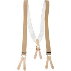 Brede zandkleurige bretels voor knoppen