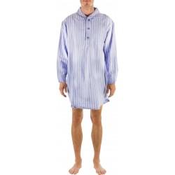 Blauw gestreepte nachthemd