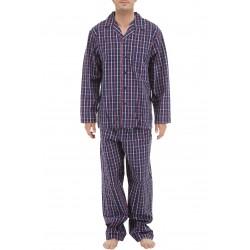 Geruite poplin pyjama
